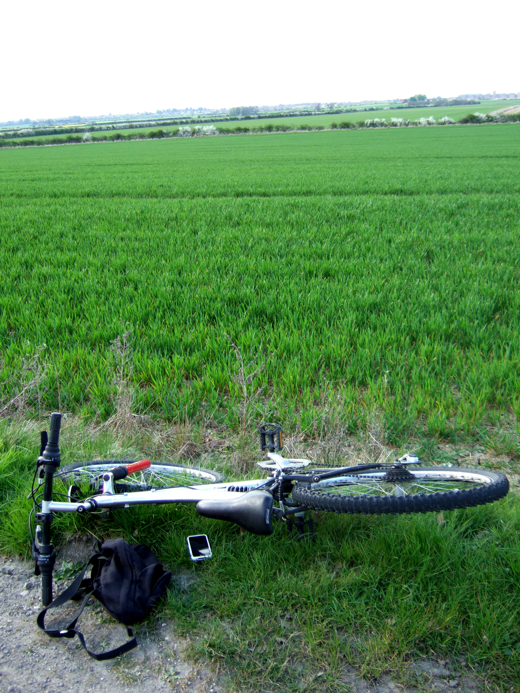 My bike in the Sleaford countryside