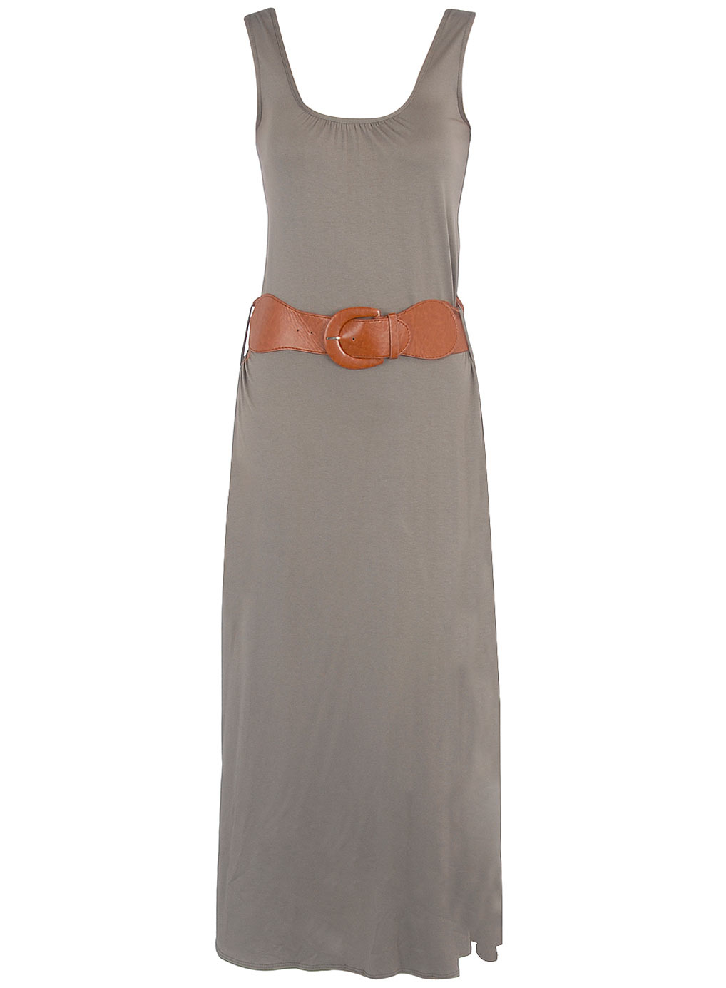 Khaki Belted Maxi Dress from Dorothy Perkins - £30