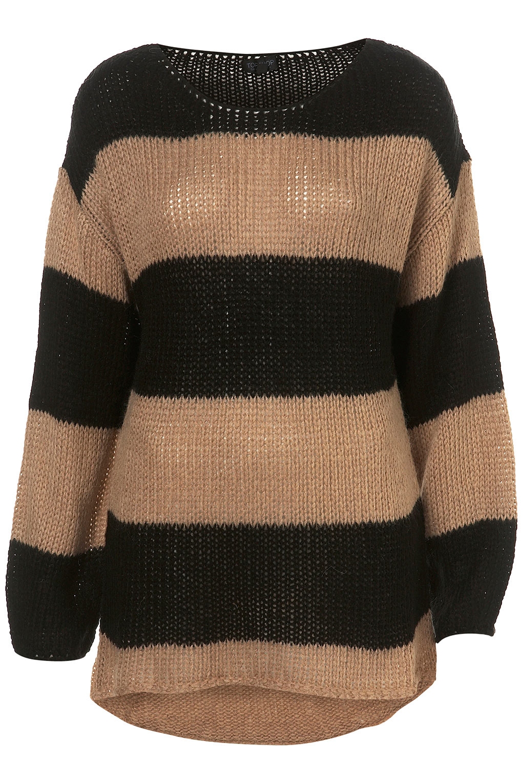 Knitted Stripe Cocoon Jumper from TopShop - £40