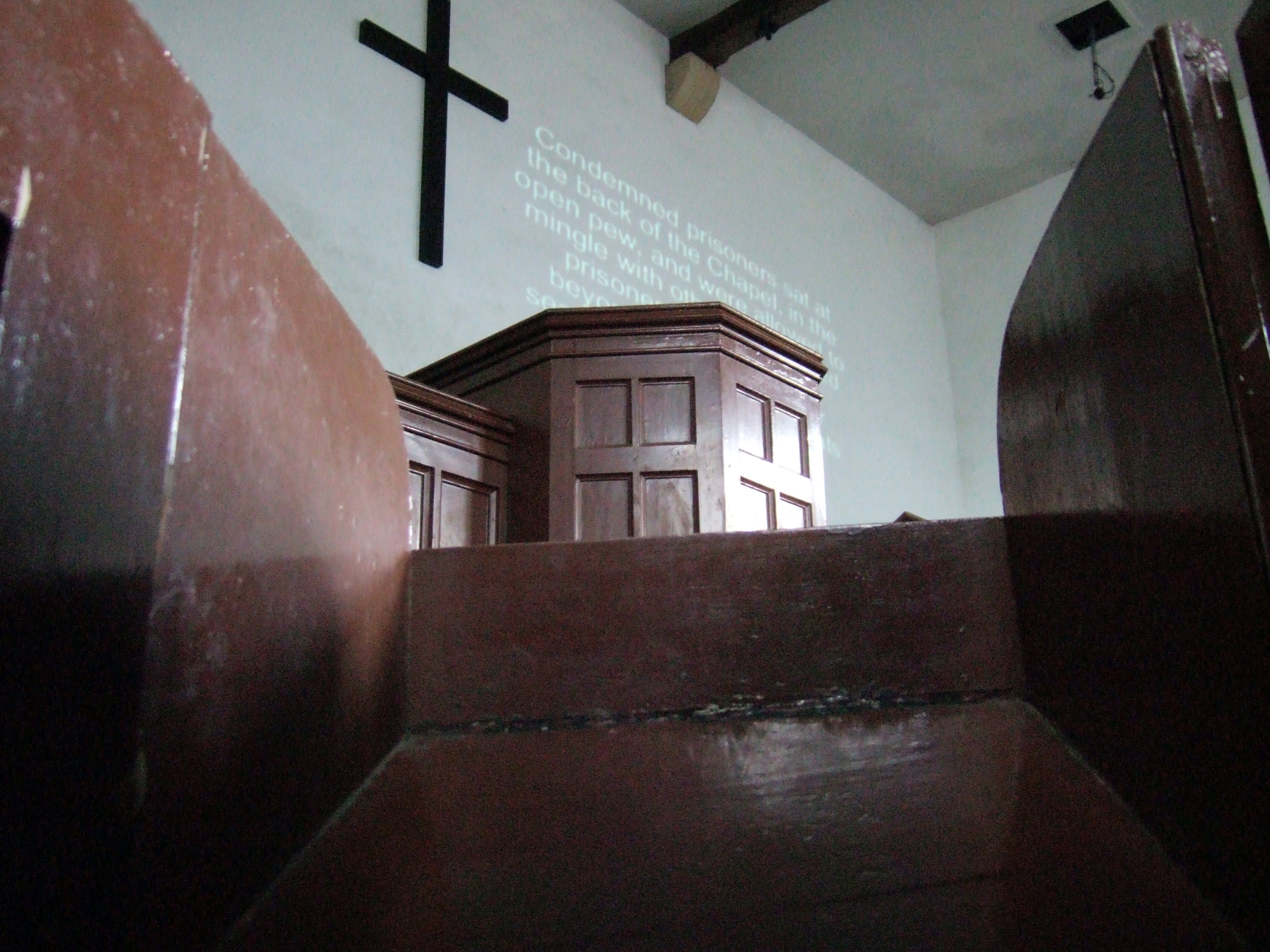 Lincon Castle Prison Chapel - view from a prisoner's cubicle