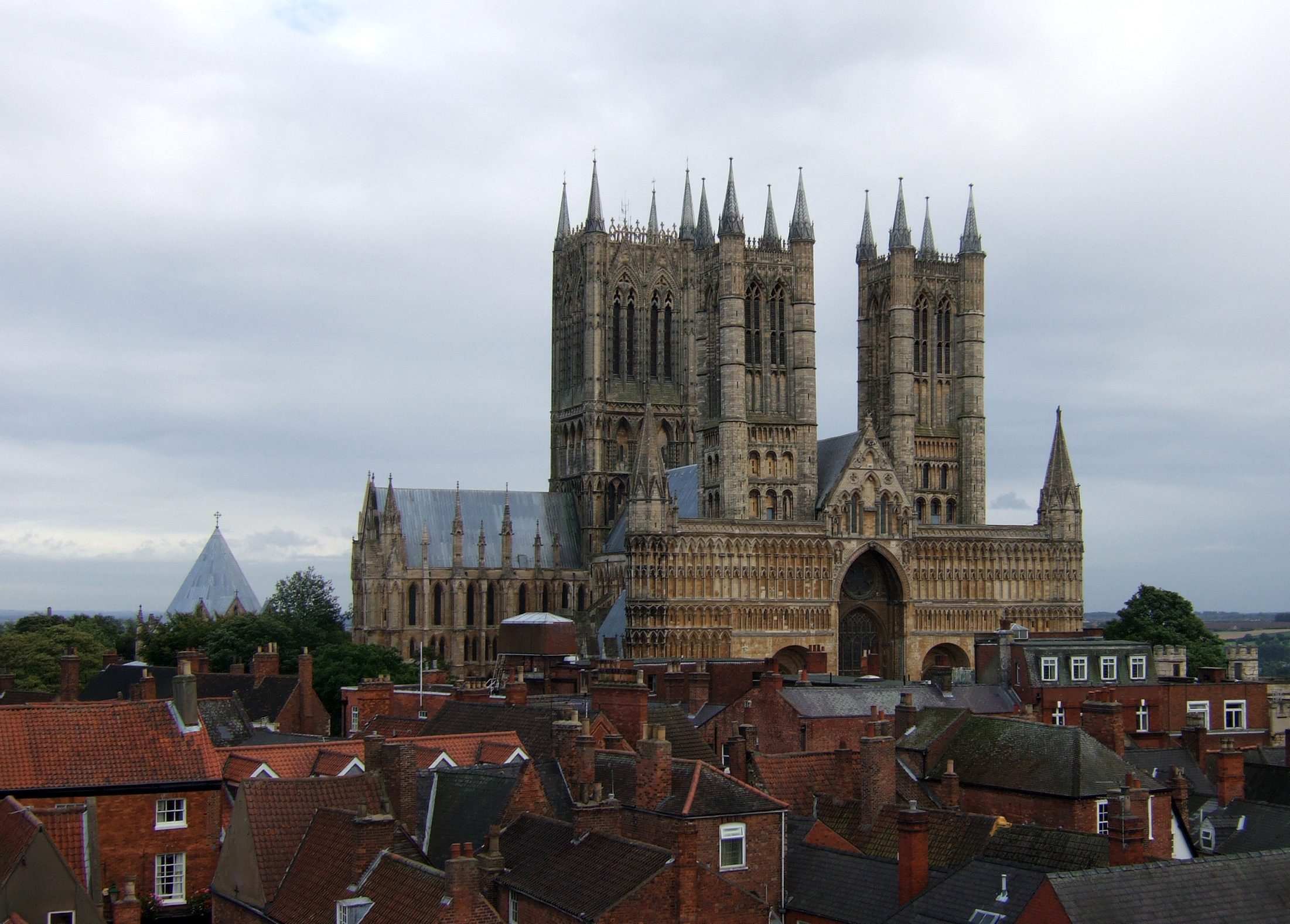 Lincoln Castle - view of Lincoln Cathedral