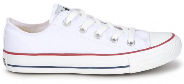 White Converse Low Tops at Spartoo.co.uk