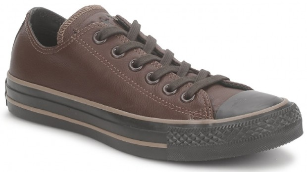 brown and black converse