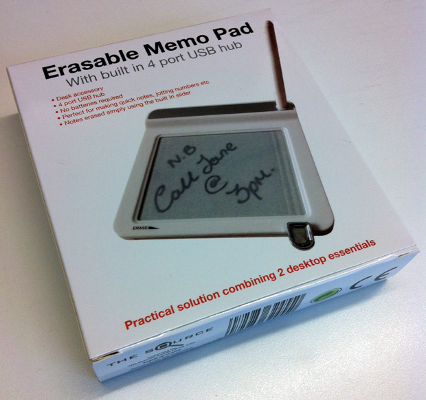 Erasable Memo Pad & USB Hub