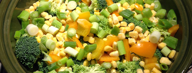 Yellow and Green Vegetables for the Pasta Bake