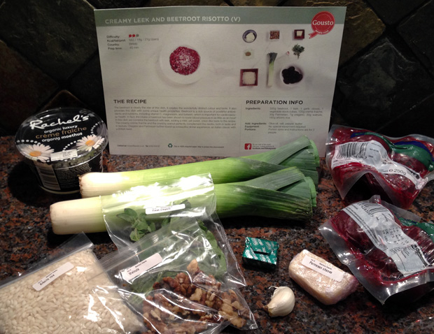 Leek and Beetroot Risotto Ingredients