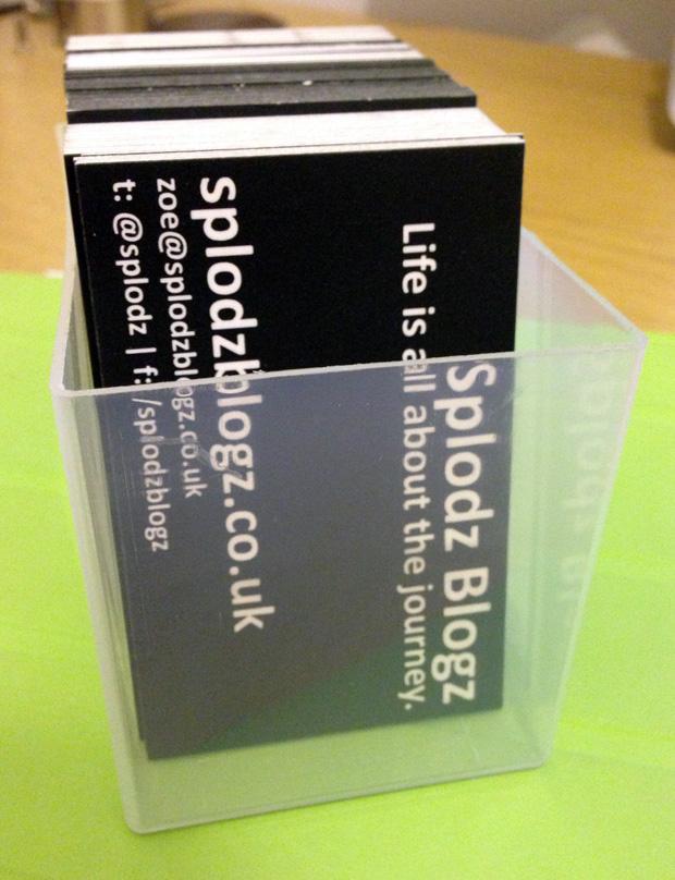 Review: Instant Print Business Cards > SPLODZ BLOGZ