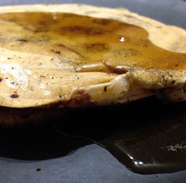 Chocolate Chip Pancake with Maple Syrup
