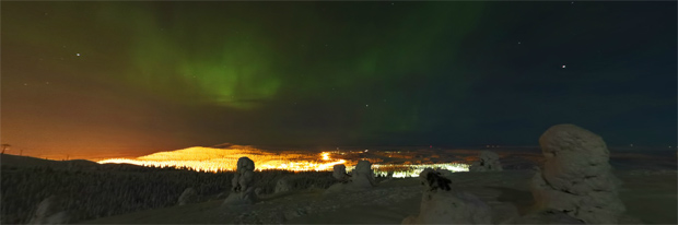 Northern Lights over Ruka Village