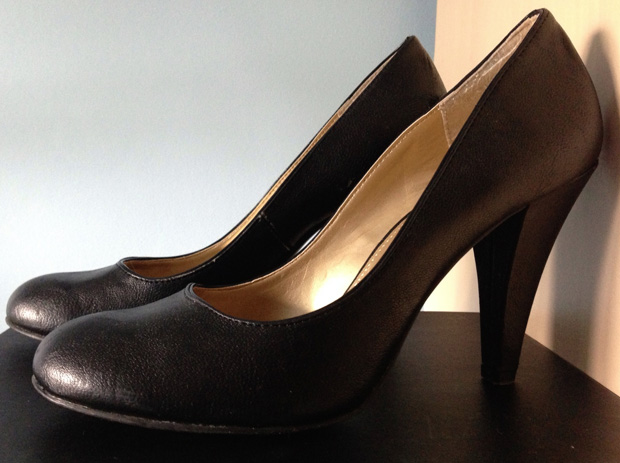 Old Faithful Black Court Shoes by Faith