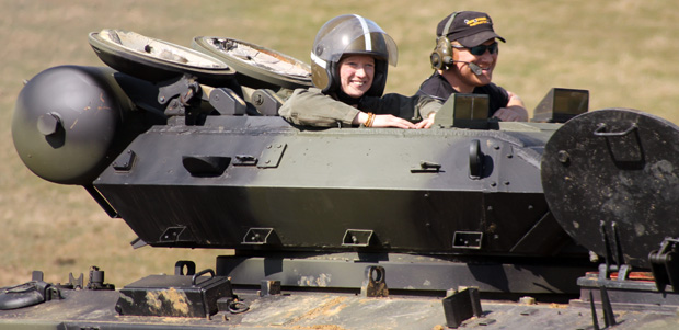 Tank Driving Experience at Armourgeddon - Me as Passenger