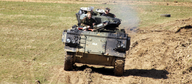 Tank Driving Experience at Armourgeddon - LincsGeek in Control
