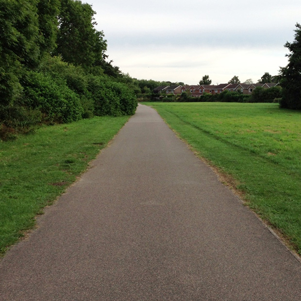My Cycle Ride to Work - Paths through Open Land
