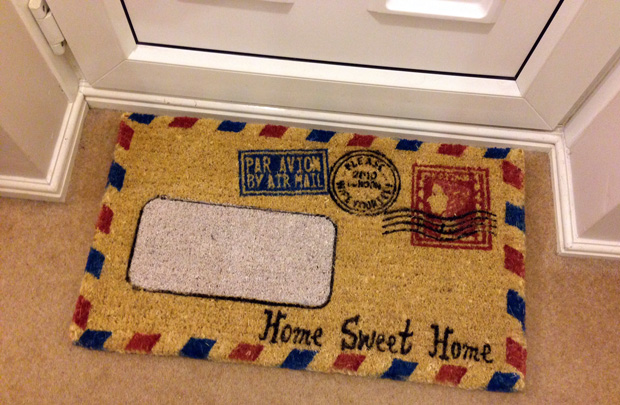 Air Mail Doormat from Flamingo Gifts