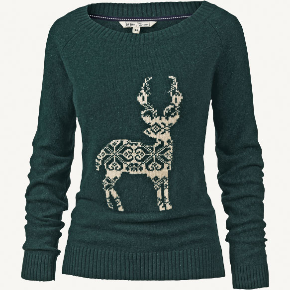 Phoebe Lurex Reindeer Jumper from FatFace