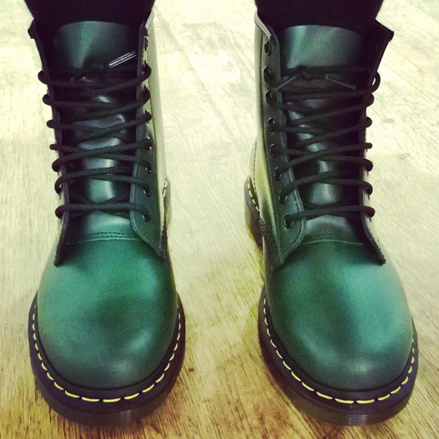 New Dr Martens in Green