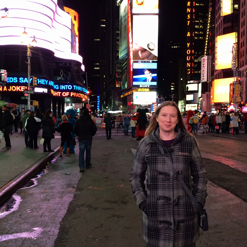 Me in Times Square, New York