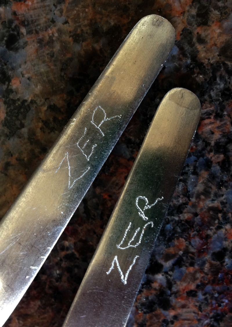 15 Feb - Personalised Cutlery