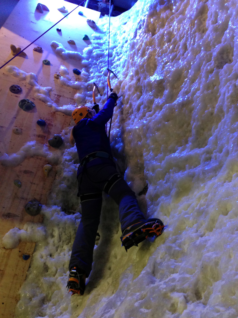 Me on the Ice Wall at Vertical Chill