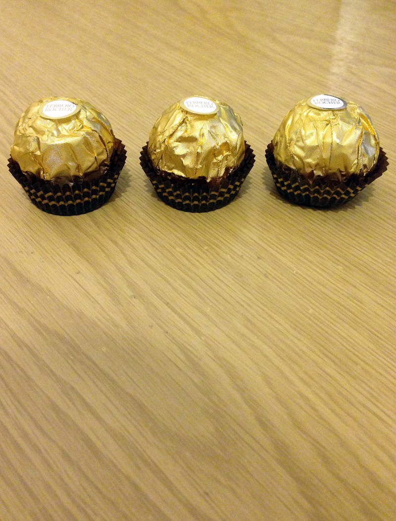 06 May - Trio of Ferrero Rocher