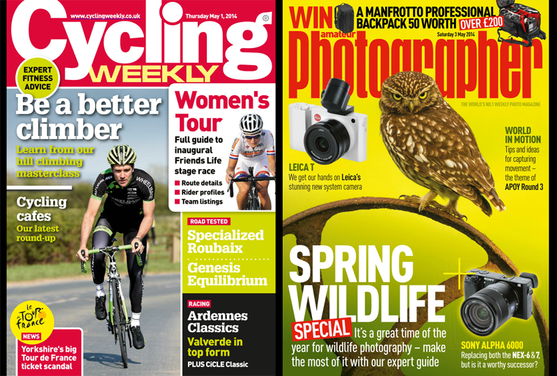 Readly Screenshot - Cycling Weekly and Amateur Photogapher
