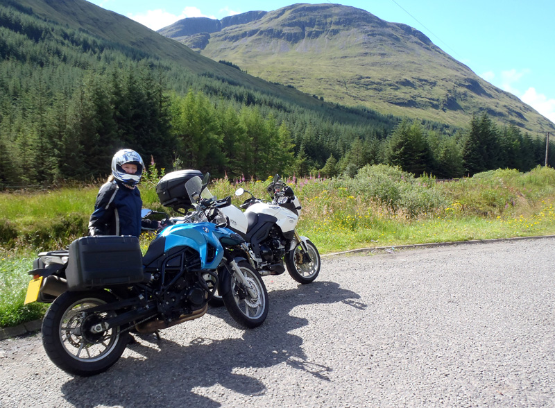 With our bikes in Scotland