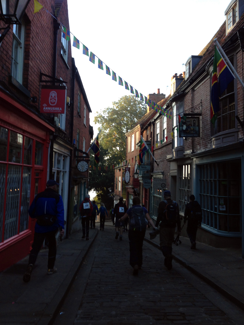 Walking down Steep Hill