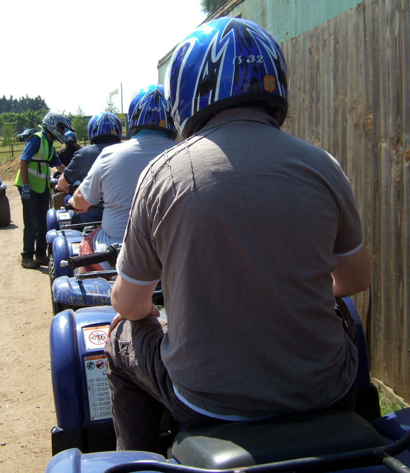Quad Bike Safari at Center Parcs Elveden Forest May 2010