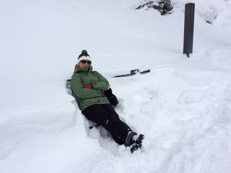 Winter Hike in Obergurgl - Taking a Break on a Bench