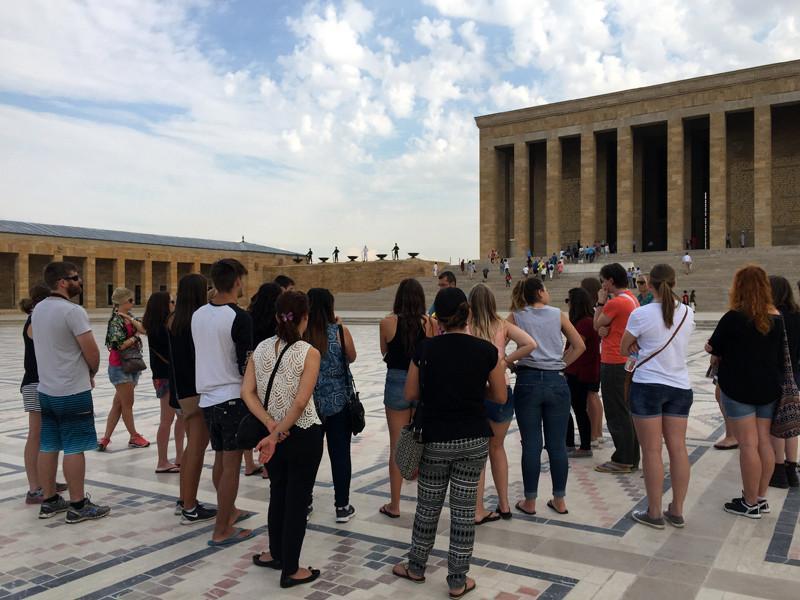 TopDeck Turkey Diary - Tour Group at Ataturk Mausoleum