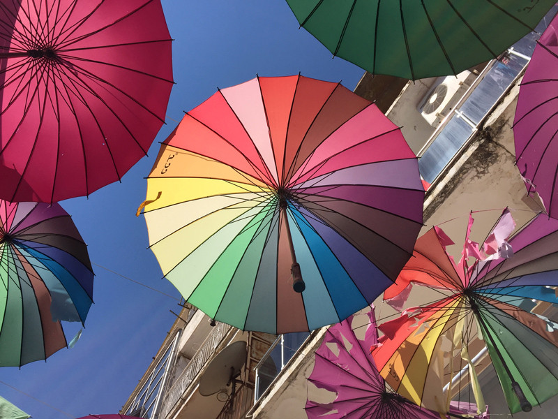 TopDeck Turkey Diary - Umbrellas