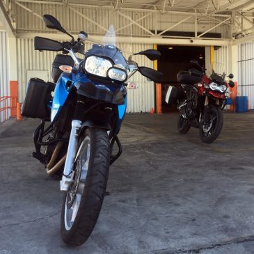 The Adventure Begins – Flying Motorbikes to Vancouver