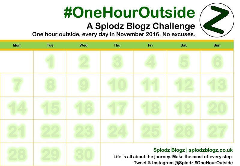 OneHourOutside One Hour Outside Printable Calendar
